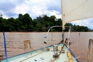 Sailing up river