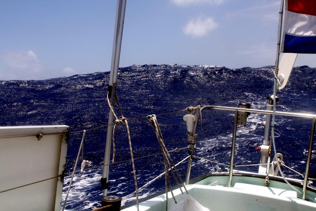 Zuid Atlantic achterop lopende golven