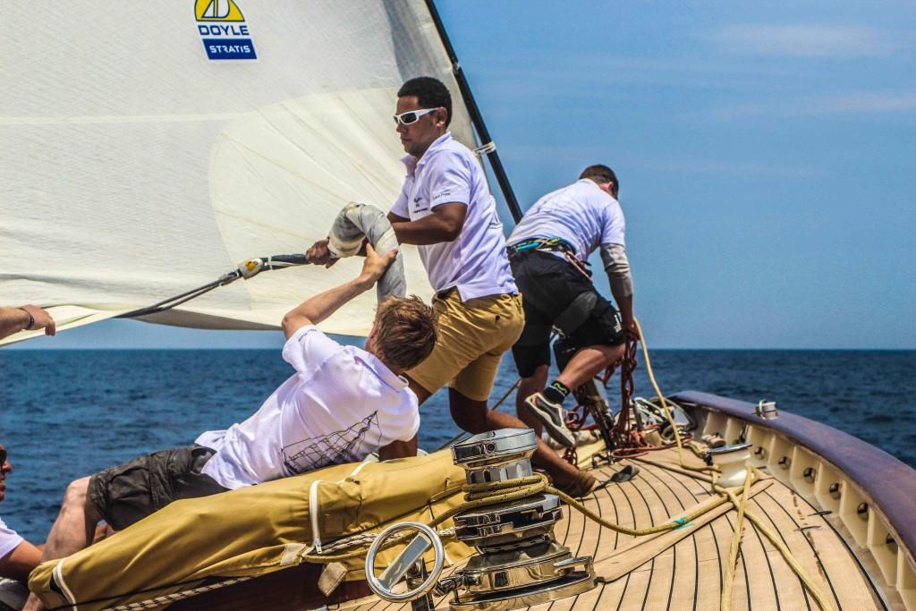 Auteur tijdens Loro Piana regatta juni 2016-2